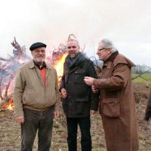 Manfred Krick beim Osterfeuer in Mettmann