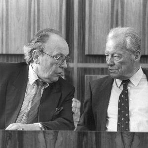 Der damalige UB-Vorsitzenden Siegfried Bangert mit Willy Brandt