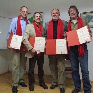 von links nach rechts abgebildet: Detlef Arendt; Bernhard Hadaschik, Karl-Heinz Selbach, Frank Intveen.